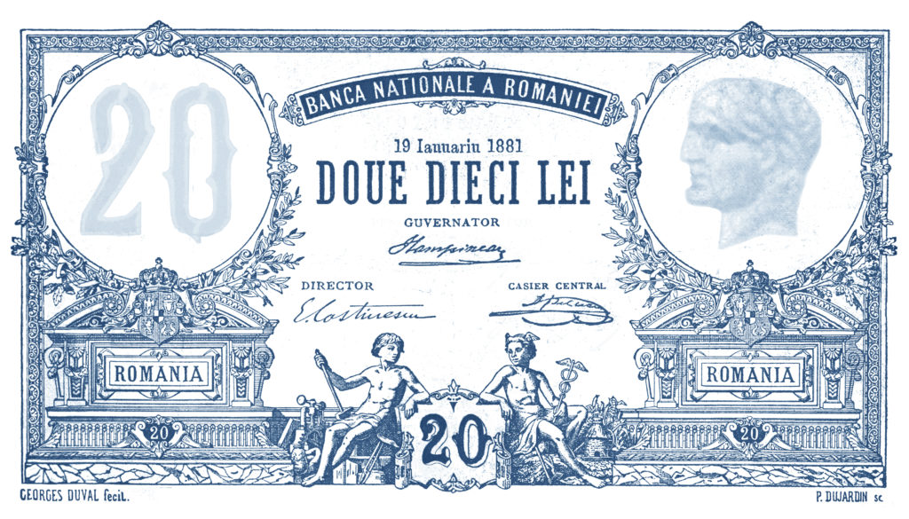 Imprimeria B.N.R. - EImprimeria B.N.R. - Bancnota de 20 leiugeniu Carada, fondator